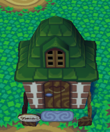 Exterior of Alfonso's house in Animal Crossing