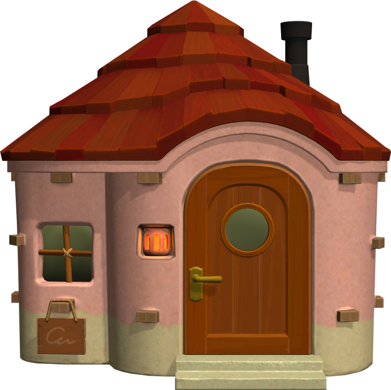 Exterior of Apple's house in Animal Crossing: New Horizons