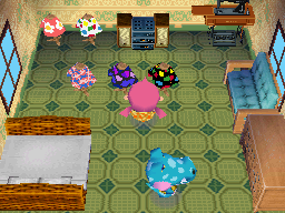 Interior of Alli's house in Animal Crossing: Wild World