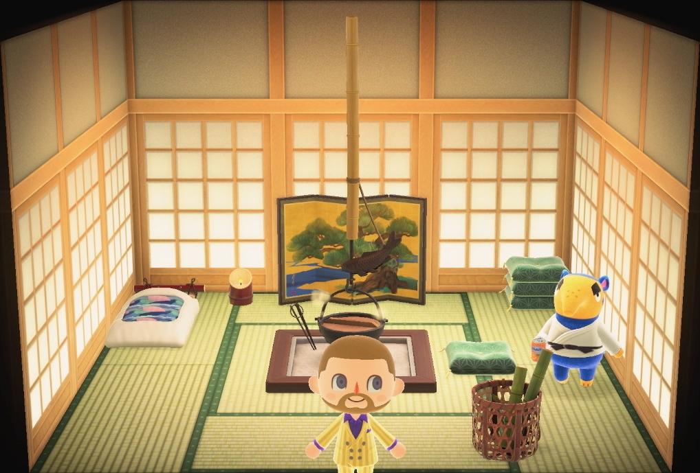 Interior of Cyrano's house in Animal Crossing: New Horizons
