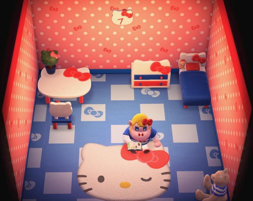 Interior of Rilla's house in Animal Crossing: New Horizons