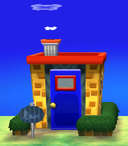Exterior of Stitches's house in Animal Crossing: New Leaf