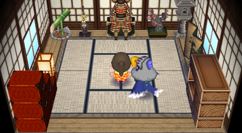 Interior of Sterling's house in Animal Crossing: City Folk