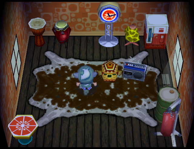 Interior of Rosie's house in Animal Crossing