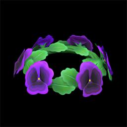 Purple Pansy Crown