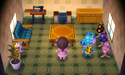 Interior of Alli's house in Animal Crossing: New Leaf