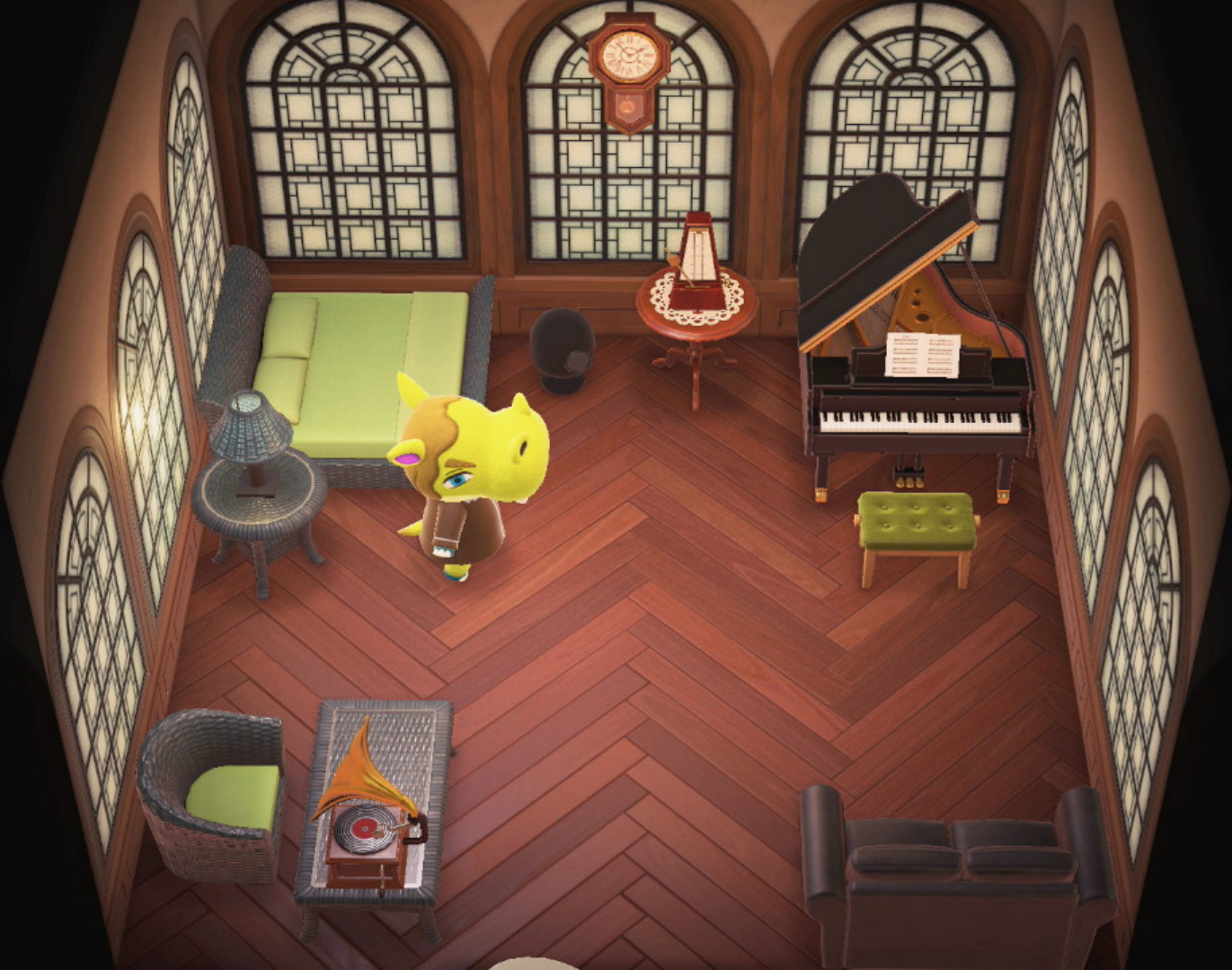 Interior of Hippeux's house in Animal Crossing: New Horizons
