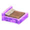 Frozen Bed (Ice Purple - Brown) NH Icon.png