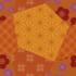 Futon with the Orange pattern applied.