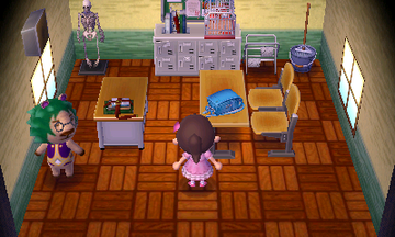 Interior of Leopold's house in Animal Crossing: New Leaf