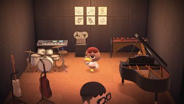 Interior of Weber's house in Animal Crossing: New Horizons