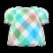 Plaid Puffed-Sleeve Shirt (Sweet Plaid) NH Icon.png