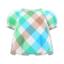 Plaid Puffed-Sleeve Shirt (Sweet Plaid) NH Icon.png
