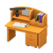 Study Desk (Light Brown) NH Icon.png