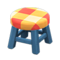 Wooden Stool (Blue - Orange) NH Icon.png