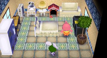 Interior of Bree's house in Animal Crossing: City Folk