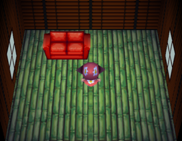 Interior of Elina's house in Animal Crossing