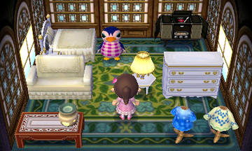 Interior of Friga's house in Animal Crossing: New Leaf