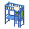 Loft Bed with Desk (Blue - White) NH Icon.png