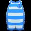 Horizontal-Striped Wet Suit