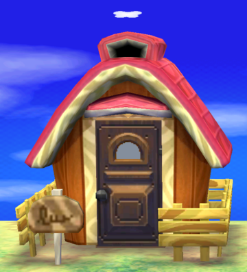 Exterior of Stella's house in Animal Crossing: New Leaf