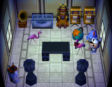 Interior of Hector's house in Animal Crossing