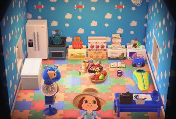 Interior of Hugh's house in Animal Crossing: New Horizons
