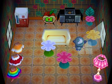 Interior of Jane's house in Animal Crossing