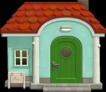 Exterior of Pietro's house in Animal Crossing: New Horizons