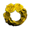 Gold Rose Wreath
