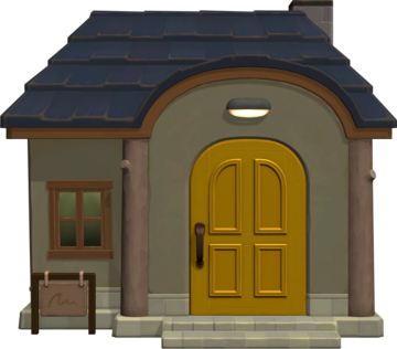 Exterior of Deena's house in Animal Crossing: New Horizons