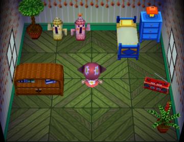 Interior of Mitzi's house in Animal Crossing