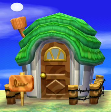Exterior of Murphy's house in Animal Crossing: New Leaf