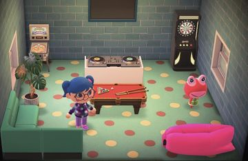 Interior of Puddles's house in Animal Crossing: New Horizons