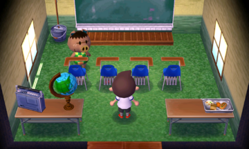 Interior of Spork's house in Animal Crossing: New Leaf