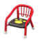 Baby Chair (Red - Paw Print) NH Icon.png