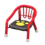 Baby Chair (Red - Paw Print)