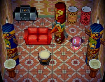 Interior of Cheri's house in Animal Crossing