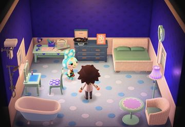 Interior of Francine's house in Animal Crossing: New Horizons