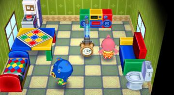 Interior of Hugh's house in Animal Crossing: City Folk