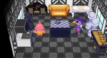 Interior of Queenie's house in Animal Crossing: City Folk