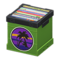 Record Box (Green - Sunset) NH Icon.png