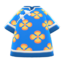 Silk Floral-Print Shirt (Blue) NH Icon.png