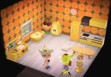 Interior of Clyde's house in Animal Crossing: New Horizons
