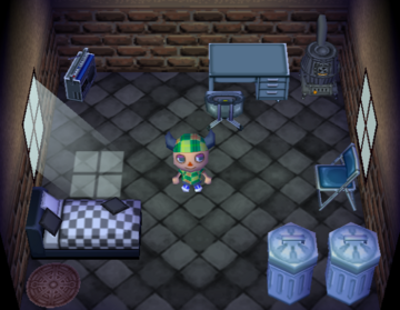 Interior of Penny's house in Animal Crossing