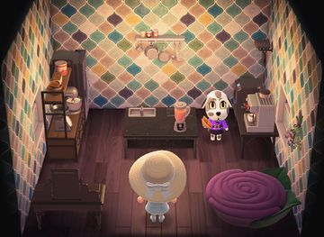 Interior of Portia's house in Animal Crossing: New Horizons