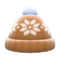 Snowy Knit Cap (Brown) NH Icon.png