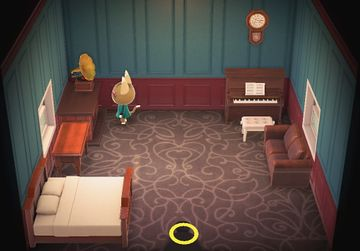 Interior of Kitty's house in Animal Crossing: New Horizons