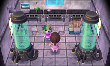 Interior of Murphy's house in Animal Crossing: New Leaf