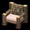 Log Chair (Dark Wood - Bears) NH Icon.png